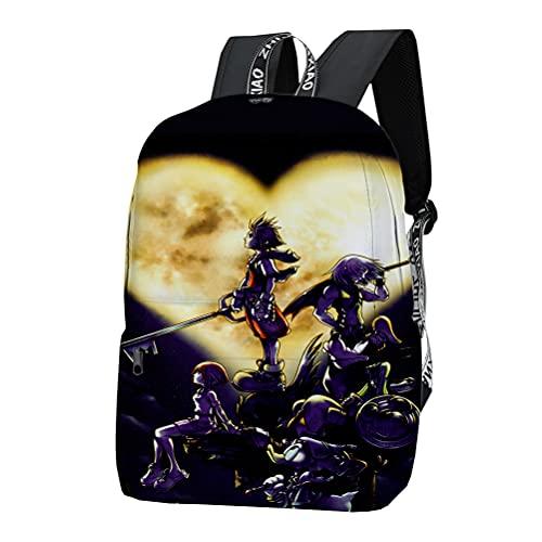 Kingdom Hearts - Maleta para niño, para viaje, compacto y día a día, mini escuela, bolso de descarga, bolso exterior unisex