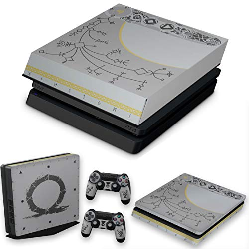 Capa Anti Poeira e Skin para PS4 Slim - God Of War Limited Edition