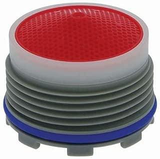 Neoperl 13 0980 5 Standard Flow Cache Perlator HC Aerator, Tiny Junior Size, 2.2 GPM, Red Dome, Honeycomb Screen, Aerated Stream, M18.5 x 1 Threads, Plastic, 0.553
