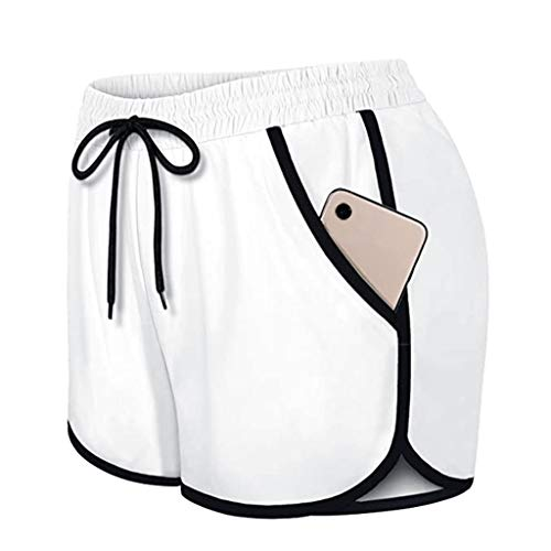 Find Discount Toimothcn Women's Running Shorts Elastic Wasit Workout Shorts with Liner Pockets Sport...