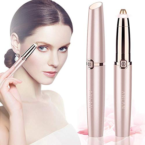 XZYP Eléctrica Ceja Trimmer de Maquillaje sin Dolor Ceja Depiladora Mini máquina de Afeitar maquinillas de Afeitar Facial Portable depilador removedor del Pelo de Las Mujeres
