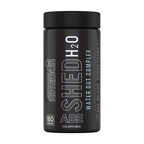 Applied Nutrition ABE (All Black Everything) Shed H2O Shed Excess Water, Water Out Complex, Project AD H2O Remoove, Water Xpel, 180 Capsules - 30 Servings