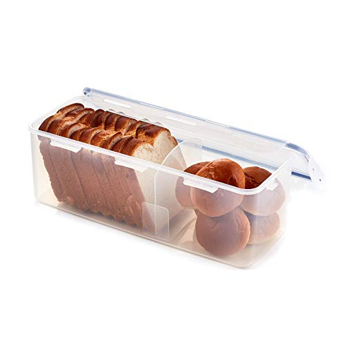 LOCK & LOCK Easy Essentials Food Storage lids/Airtight containers, BPA Free, Bread Box-21.1 Cup, Clear