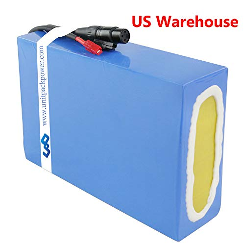 Ebike Battery 48V 20AH Waterproof PVC Lithium Battery Pack with Charger and 30A BMS Protection for 1000W 750W 500W Motor (US Warehouse)
