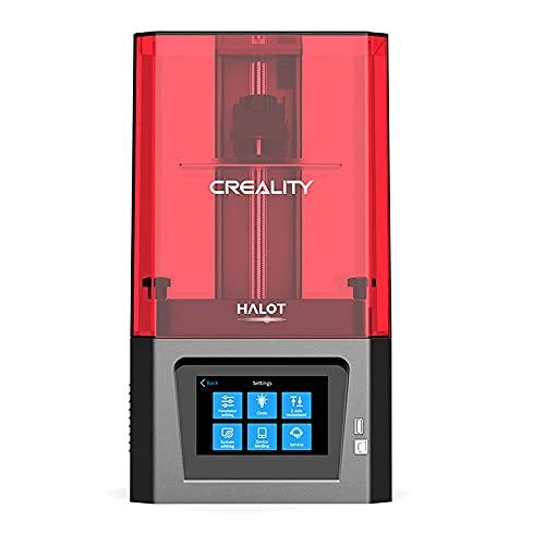 GEEOR Creality HALOT-ONE Impresora 3D Resina, Wifi Función, Fuente de Luz Integral Precisa, Rebanado Eficiente, Placa Base de Alto Rendimiento, Pantalla Monocroma 2K HD, Resolución 1620*2560