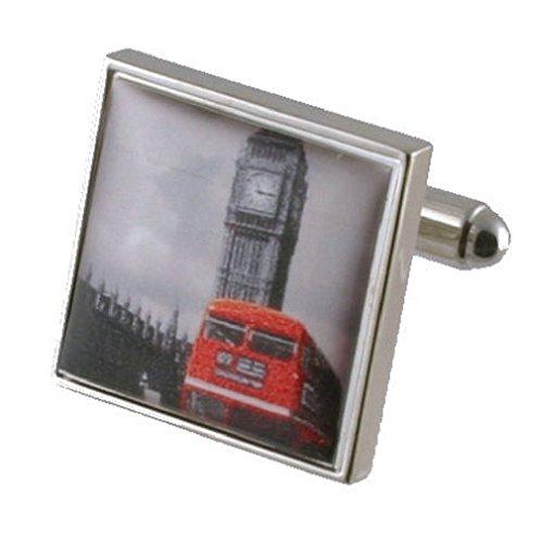 Brassard liens Big Ben de manchette~Londres City Landmark montrant bus rouge Pochette Cadeau Sélectionner manchette