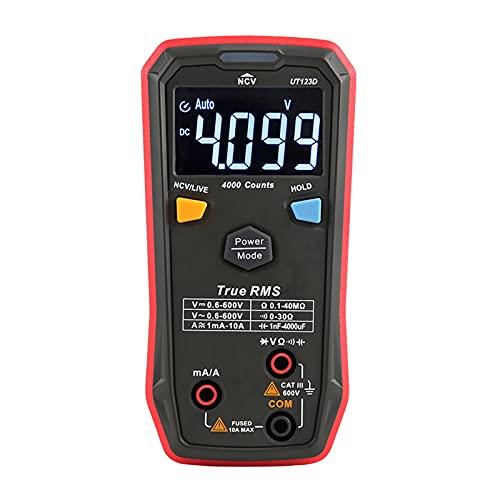 Multímetro digital - Ut123d4099 Contador de valor efectivo verdadero Multímetro digital Probador de voltaje CA/CC Medidor de resistencia Mide voltaje, corriente