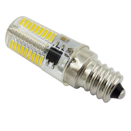 SODIAL Atenuacion LED Bombilla de maiz Mini lampara de silicona 72 Leds SMD 4014 E12 220V 200V-240V Reemplazar lampara halogena Luzblanco calido