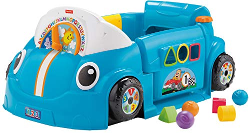 Fisher-Price Laugh & Learn Crawl Around Car, Blue [English]