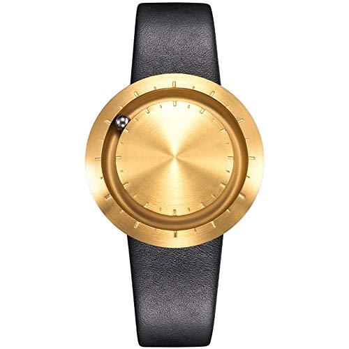 LAVARO luxusuhren goldene uhr unisex uhren markenuhren damen herrenarmbanduhr wasserdicht 3bar leder schwarz