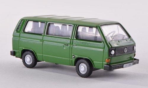 VW T2 Bus, dunkelgrün/hellgrün, Modellauto, Fertigmodell, Oxford 1:76