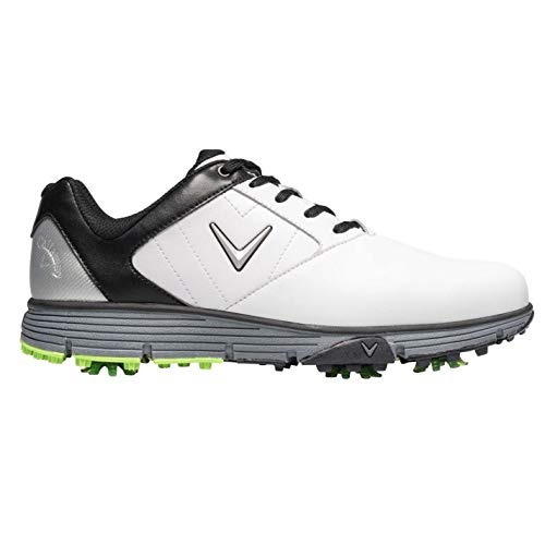 Callaway Cheviot Herren Golf Schuhe Turnschuhe mit Spikes Weiß/Schwarz 43 EU