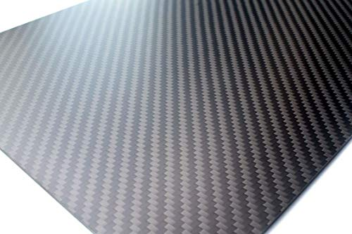 cncarbonfiber 3mm 200x300mm 100% Carbon Fiber Sheet Laminate Plate Panel 3K Twill Matte Finish