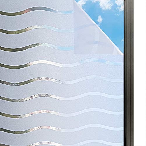 Fushion Graphix PVC Bathroom Window Film Glass Sticker Home Privacy Frosted Frost Cover (12 inch x 36 inch)