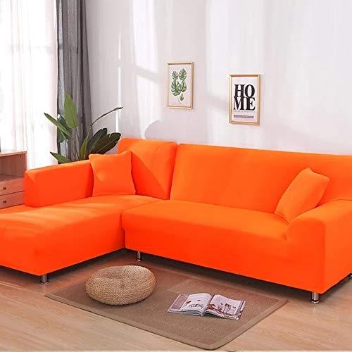 WXQY Funda de sofá elástica elástica Lisa Gris, se Puede Utilizar para sofá con Fondo en Forma de L, sofá Modular y Funda de Chaise Longue A10 de 4 plazas