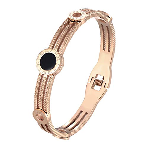 Bracelet Exquisite Small Gears Roman Numeral Bracelets & Bangle for women stainless steel Fashion Bangle Jewelry Friends Gift RoseGold