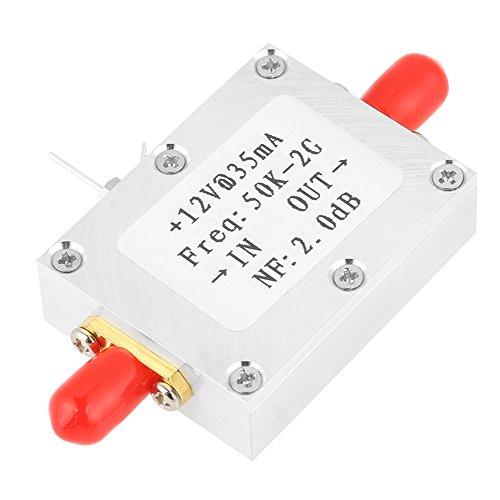 HF Verstärker, 50K-2GHZ Breitbandverstärker Low Noise LNA Verstärker für UKW Radio, Fernbedienungsempfänger, Kabel TV Signalverstärker, 31DB@0.5G