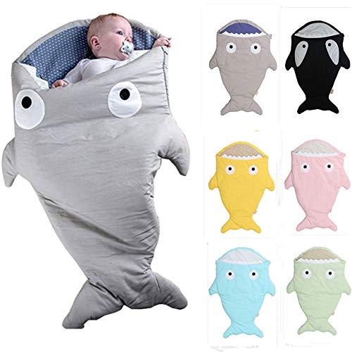 LHYAN Cartoon-Haifisch-Schlafsack Multifunktionale Kinder Baby-Kick-Beweis Quilt Baby Baby-Schlafsack-Anti-Kick Quilt Mini Schlafsack,Blau