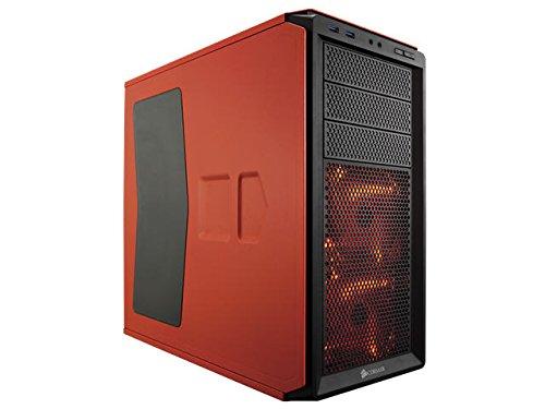 Corsair CC-9011038-WW Graphite Series 230T Seitenfenster ATX Compact Mid-Tower Windowed Gaming Computer Gehäuse, Orange mit Orange LED Lüfter
