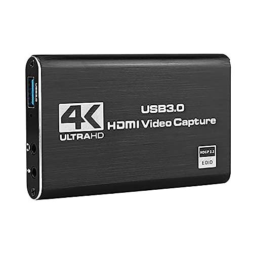 Varadyle Tarjeta de Captura 4K Compatible con una USB3.0 GrabacióN en Vivo Captura de Video con Bucle para GrabacióN de Video Captura en Vivo de Juegos