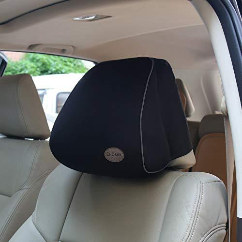 Auto Kissen mit Memory-Schaum, Auto Nackenkissen für das Fahren, Autokissen Kopfstütze für Autositz, Auto Nackenkissen(schwarz)