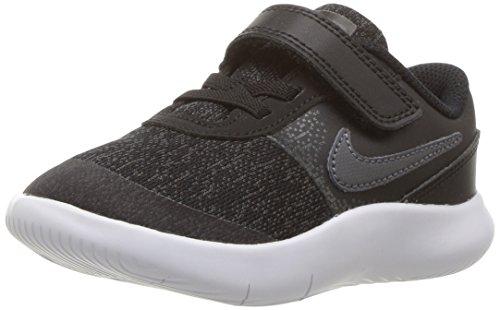 NIKE Toddlers Team Hustle D 8 (TD) Black/Metallic Silver White Basketball Shoe 10 Infants US
