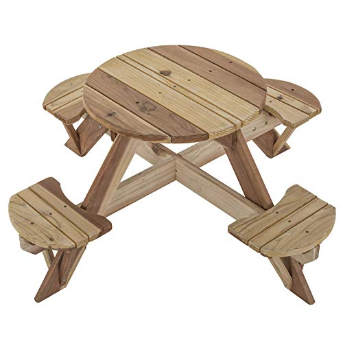 Jack & June Circular Redwood Picnic Table