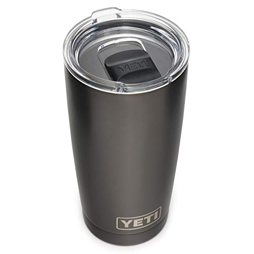YETI Rambler 20 oz Tumbler, Stainless Steel, Vacuum Insulated with MagSlider Lid, Graphite