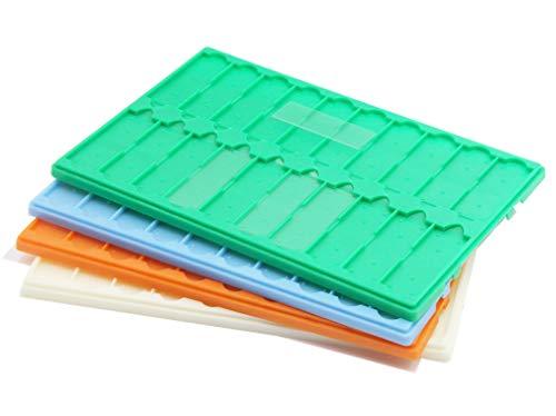 Plastic Microscope Slide Tray; 20 Capacity, Pack of 4