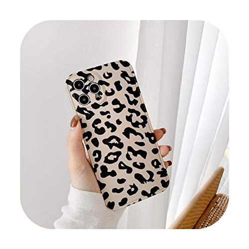who-care Coque-Qy181-1 Schutzhülle für iPhone 12 Mini 11 Pro Max 7 8 Plus X Xr Xs Max SE 2020, Leopardenmuster