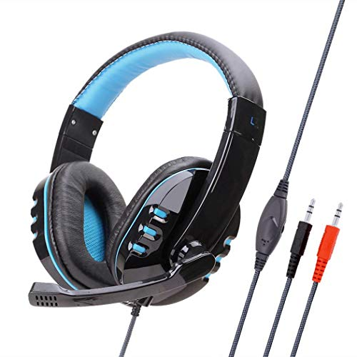 ROCONAT Cancelación de Ruido estéreo sobre el oído con Auriculares con micrófono para Juegos Auriculares