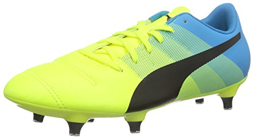 Puma Evopower 4.3 SG, Botas de fútbol para Hombre, Gelb (Safety Yellow-Black-Atomic Blue 01), 40.5 EU