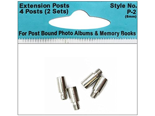 Pioneer Extension Post Style No. P-2 4 Pack (for up to 2 albums), Steel