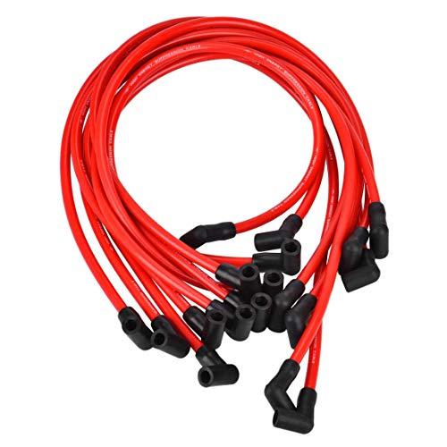 Casinlog Juego de Cables de BujíA de 10.5 Mm, SP10-390-1010 Cable de Encendido de Alto Rendimiento para Am General Hei SBC BBC 350