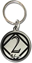 Serenity is Forever 2 Year NA Narcotics Anonymous Anniversary Medallion Keychain for Clean Birthday with 3rd Step Prayer