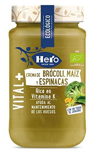 Hero Crema Ecológica, Brócoli, Maíz y Espinacas, 345g