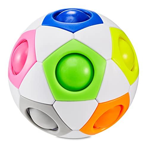 CUBIDI® - Regenbogenball - Geschicklichkeitsspiel für Kinder und Erwachsene - 3D Puzzle für Kinder - Geburtstag Gastgeschenk