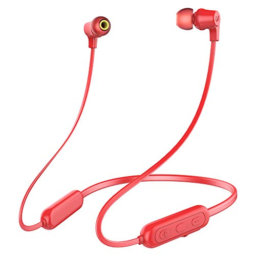 Infinity by Harman Glide N100 Wireless Neckband with Deep Bass Dual EQ Bluetooth 5.0 & Sweatproof (Passion Red)
