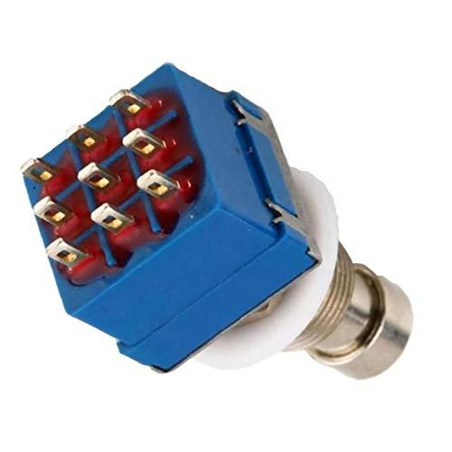 EElabper Gitarren-Effektpedal 3pdt 9 Pins Box Stomp Fußschalter True Bypass E-Gitarren-Zubehör