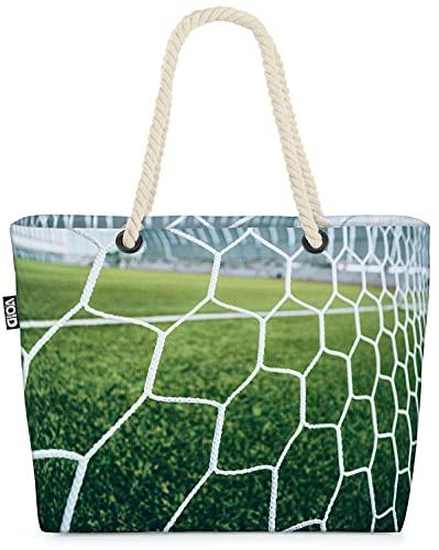 VOID Fussball Tornetz Ball Strandtasche Shopper 58x38x16cm 23L XXL Einkaufstasche Tasche Reisetasche Beach Bag