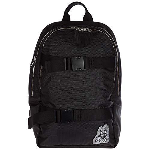 MCQ Alexander McQueen mochila bolso de hombre nuevo bunny clip negro