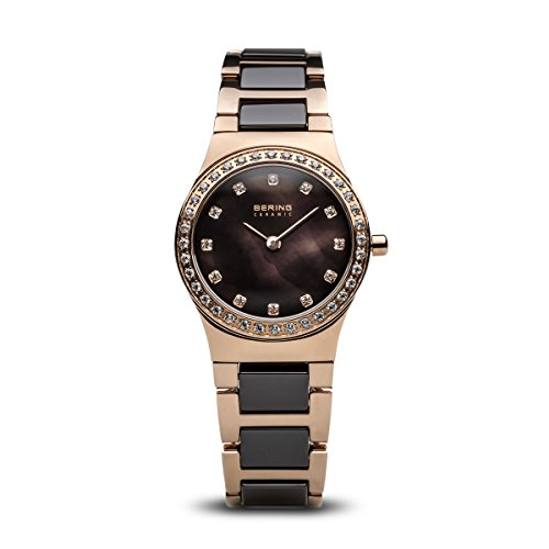 BERING Time | Women's Slim Watch 32426-765 | 26MM Case | Ceramic Collection | Stainless Steel Strap with Ceramic Links | Scratch-Resistant Sapphire Crystal | Minimalistic - Designed in Denmark