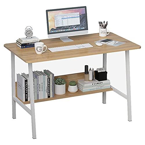 Escritorio de computadora de 39,4 pulgadas con estante de almacenamiento Mesa de escritura de estudio de estilo industrial Escritorio del juego del ordenador portátil de la PC para la oficina en casa