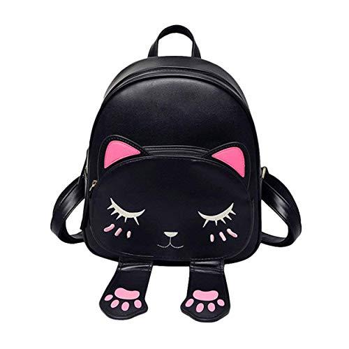 icemart® Girls Fashion Backpack Cute Mini Leather Backpack Purse for Women (IC-0071-BLACK)