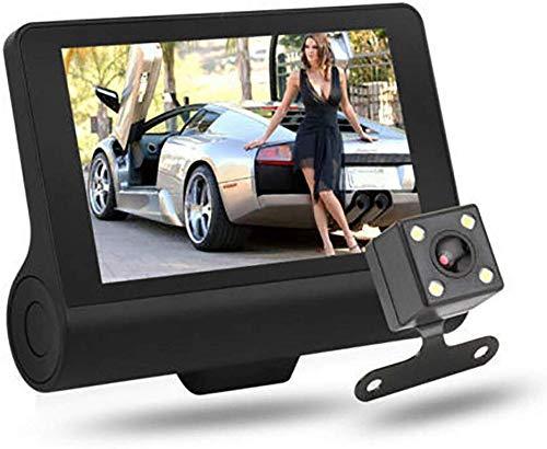 JFZCBXD 1080P 4Inch Auto DVR-Doppelobjektiv-Schlag-Nocken vorne G-Sensor-Aufnahme Rückvideorekorder