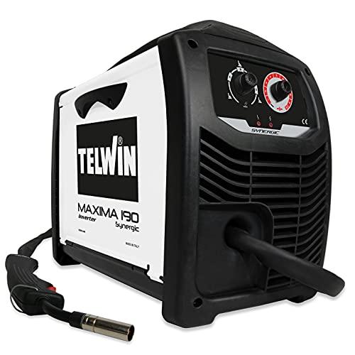 Telwin 816086 Soldadora Inverter de Hilo MIG-MAG/FLUX/BRAZING, Color Blanco, 450 x 235 x 370 mm