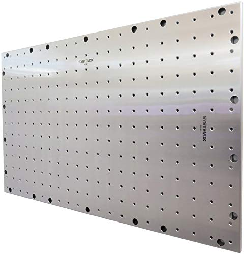 System X SVS 081 Metal Pegboard Stainless Steel with Unique Threaded Holes, 41 Inches Long by 26 Inches Wide