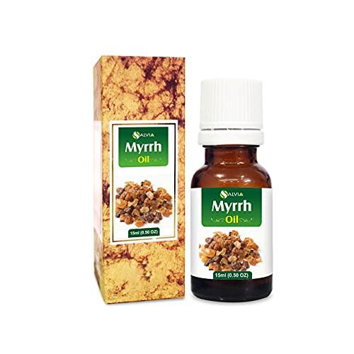 Mirra (Mirra Commifora) 100% natural puro sin diluir aceite portador sin cortar 15 ml
