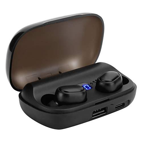 Dilwe Auricolari Wireless JS2 True, Auricolari Bluetooth 5.0 HiFi, Cuffie Sportive Impermeabili con Controllo tattile con Custodia di Ricarica, Display di Alimentazione per Interni/Esterni