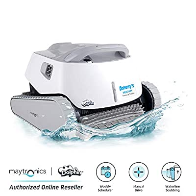 DOLPHIN Mercury Automatic Robotic Pool Cleaner with WiFi Control for Stress-Free Pool Cleaning, Ideal for In-ground Swimming Pools up to 50 Feet